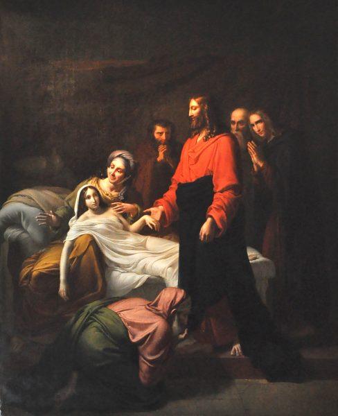File:Delorme - Jésus ressuscitant la fille de Jaïre