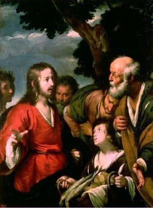 Peinture de Bernardo Strozzi - multiplication des pains et des poissons