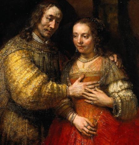 Rembrandt - Isaac et Rébecca