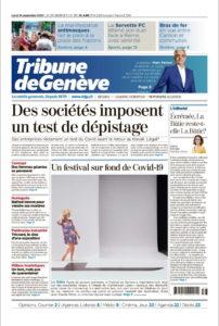 Couverture de la Tribune de Genève