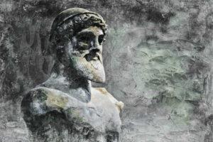 composition à partir d'une statue de Poséidon - Image par Brigitte makes custom works from your photos, thanks a lot de Pixabay