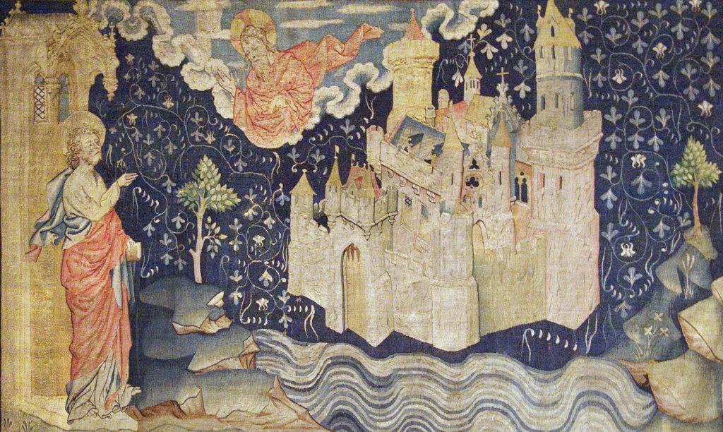 La Jérusalem céleste, Tapisserie de l'Apocalypse (Angers, XIVe siècle).