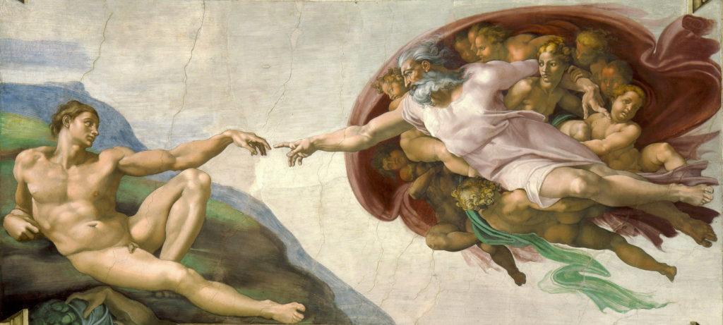 La création d'Adam - Michel-Ange (1508 - 1512) Chapelle Sixtine, Vatican